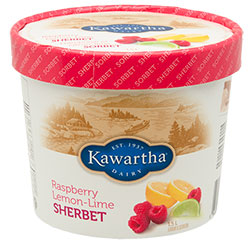 Raspberry Lemon-Lime Sherbet