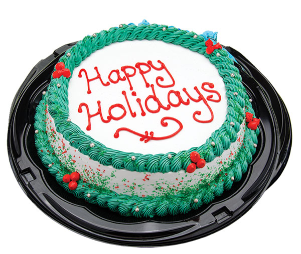 Happy Holidays Ice Cream Cake
