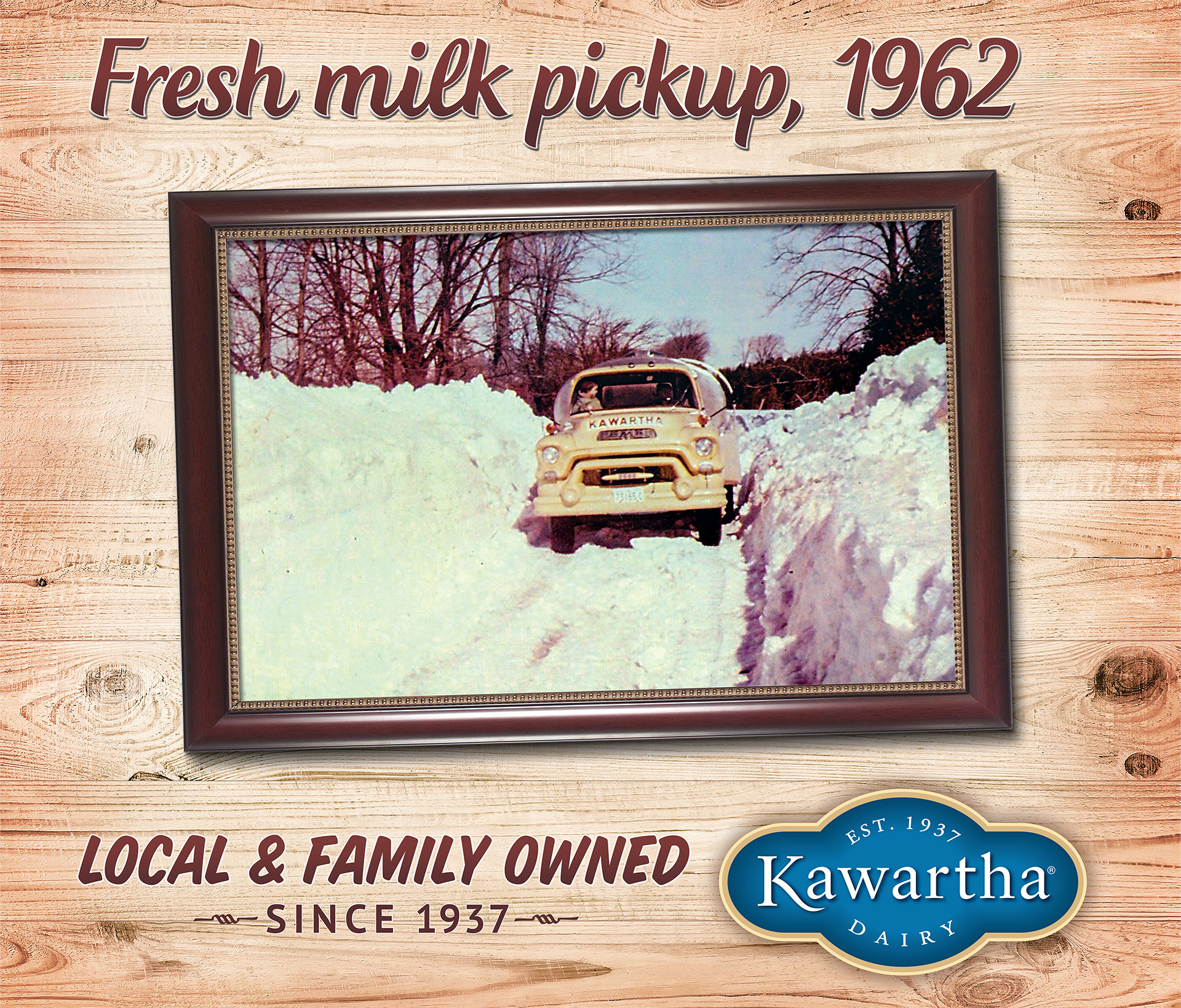 Fresh Milk Pickup, 1962 - Local & Family Owned since 1937