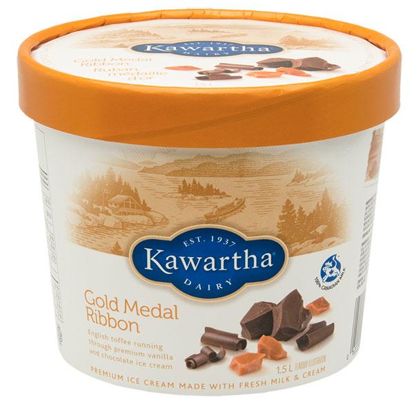 Gold Medal Ribbon - Kawartha Dairy